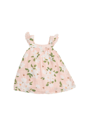 Angel Dear Magnolia Muslin Sundress & Diaper Cover - Front full body
