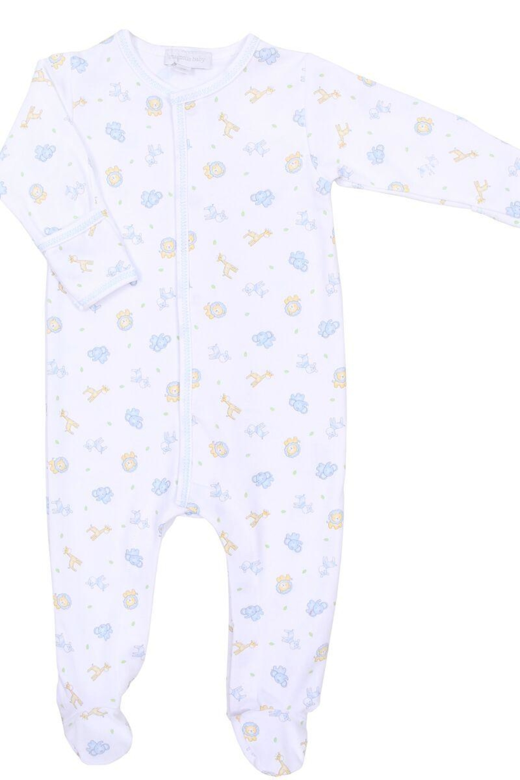 Magnolia Baby Safari Print Footie - Front Cropped Image