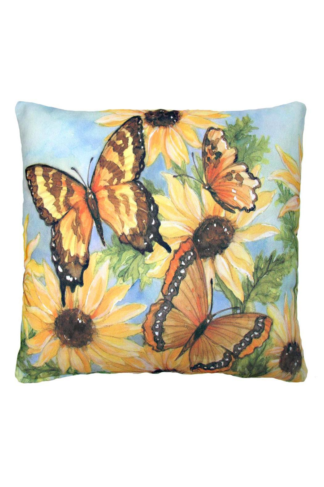 Magnolia Casual Butterflies Blossoms 2 Pillow - Main Image