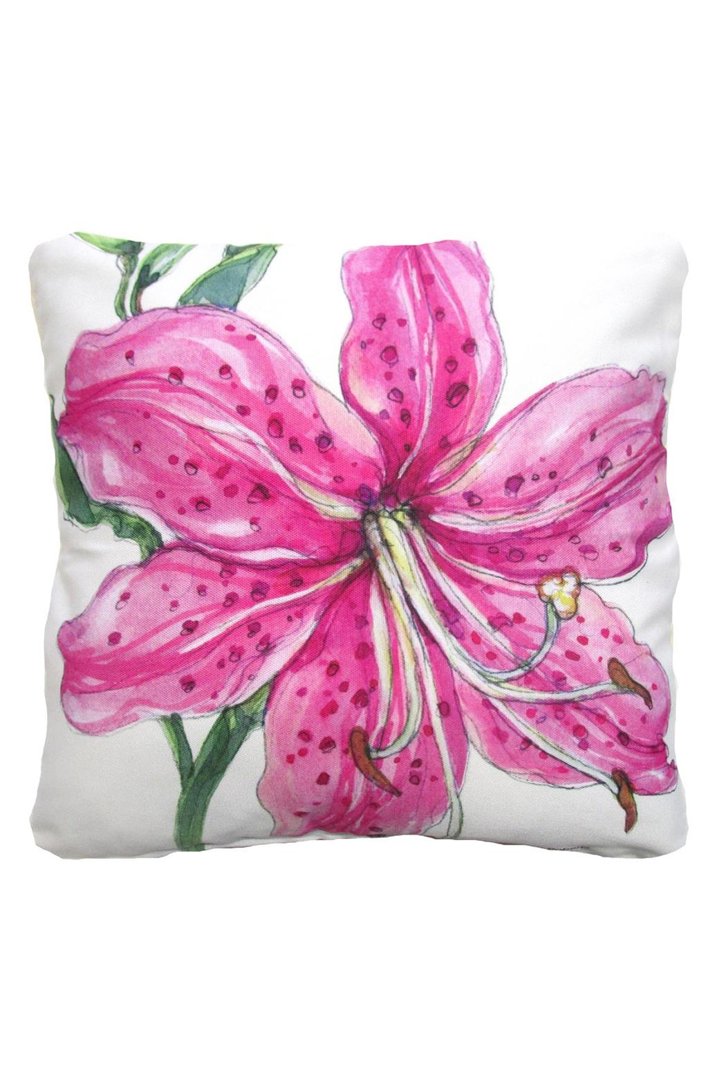 Magnolia Casual Pink Lily Pillow - Main Image
