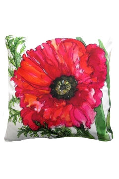 Magnolia Casual Red Poppy Pillow - Alternate List Image