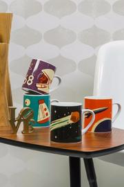 Magpie & Jay Comet Mug - Front full body