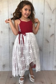 Magpie and Mabel Red Lace Dress - Product Mini Image