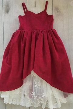 Magpie and Mabel Red Lace Dress - Alternate List Image