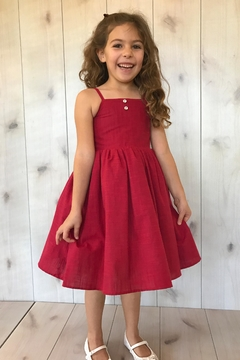 Magpie and Mabel Red Simple Dress - Product List Image