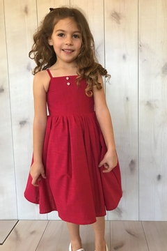 Magpie and Mabel Red Simple Dress - Alternate List Image