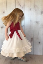 Magpie and Mabel Red Shimmer Dress - Product Mini Image