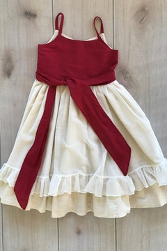 Magpie and Mabel Red Shimmer Dress - Alternate List Image