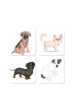 Magpie line Dog Foursome Coasters - Alternate List Image