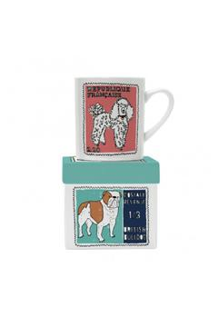 Magpie line Poodle Bulldog Mug - Alternate List Image