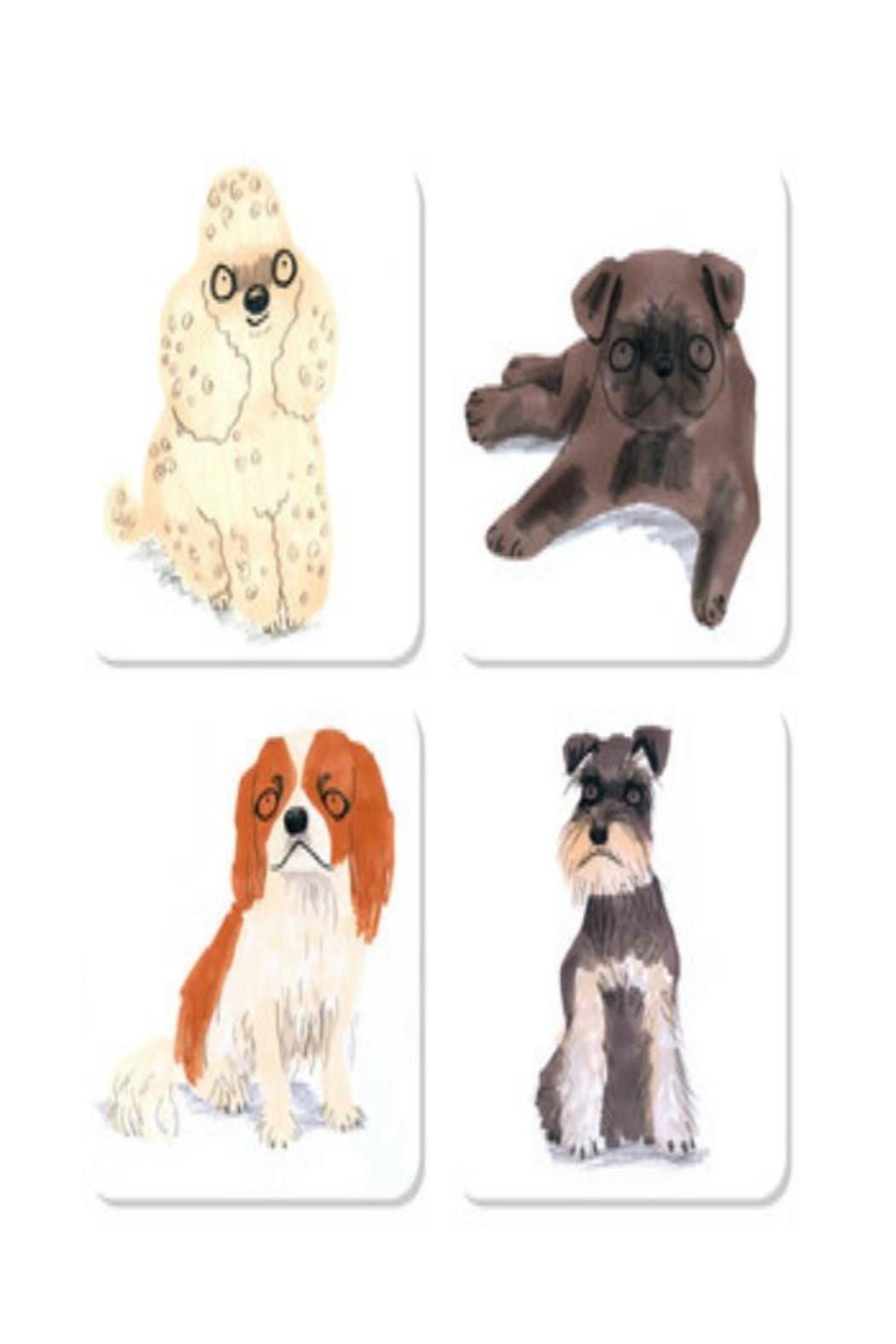 Magpie line Puppy Dog Coasters - Main Image