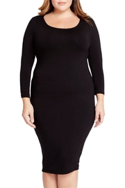 Mai Tai Black Fitted Dress - Front full body