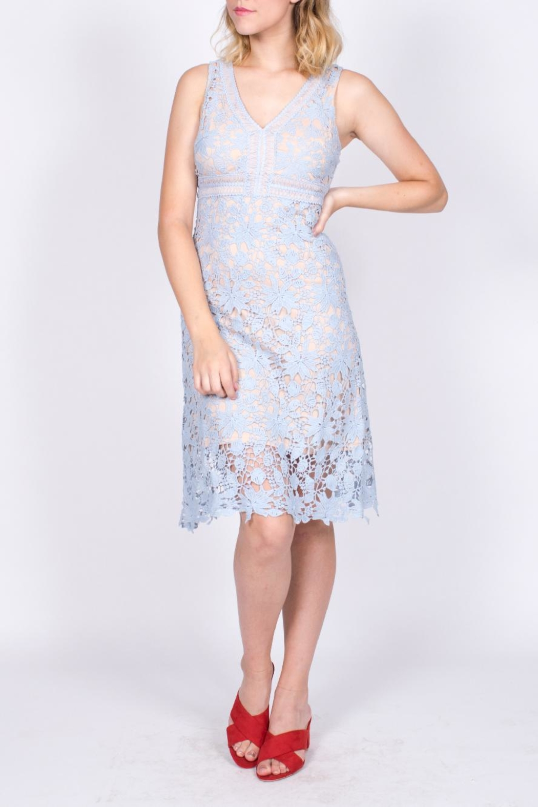 Mai Tai Blue Lace Dress - Main Image
