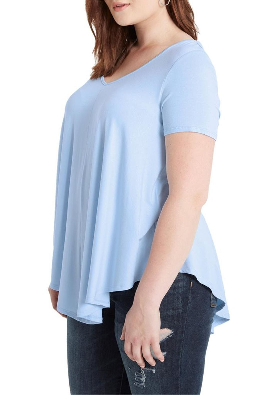 Mai Tai Dusty Blue V Neck - Side Cropped Image