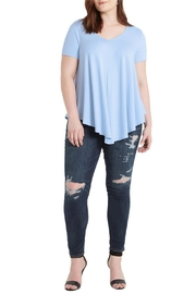 Mai Tai Dusty Blue V Neck - Front cropped