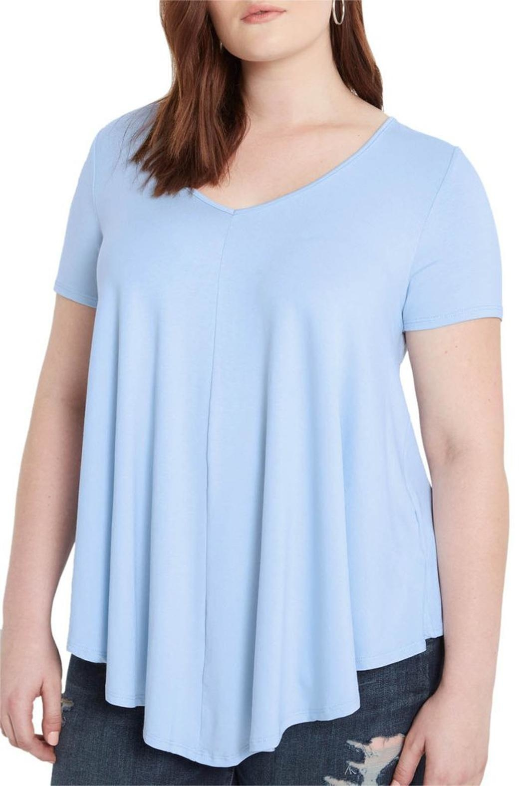 Mai Tai Dusty Blue V Neck - Front Full Image
