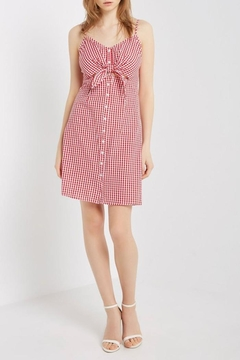 Mai Tai Gingham Tie-Front Dress - Product List Image
