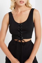 Mai Tai Lace-Up Crop Top - Front full body