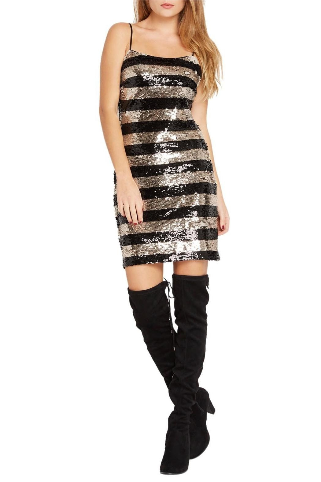 Mai Tai Metallic Sequin Dress - Front Cropped Image