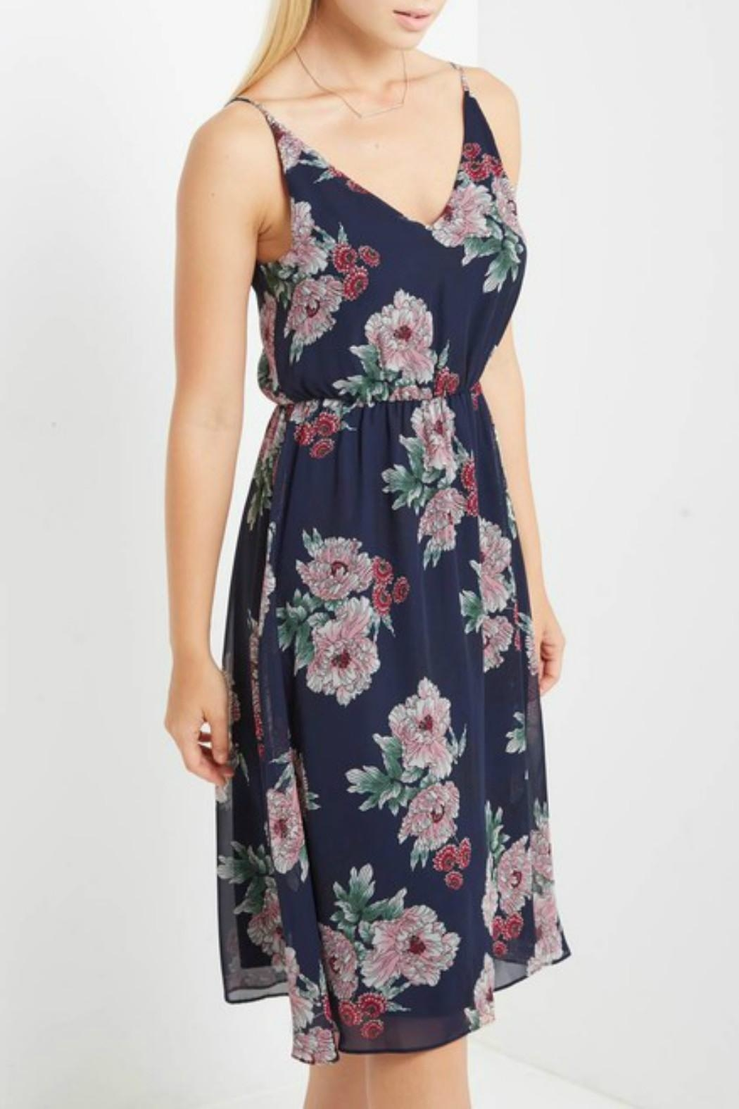 Mai Tai Navy Floral Dress - Front Full Image