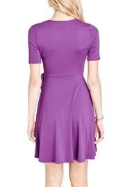 Mai Tai Purple Wrap Dress - Side cropped