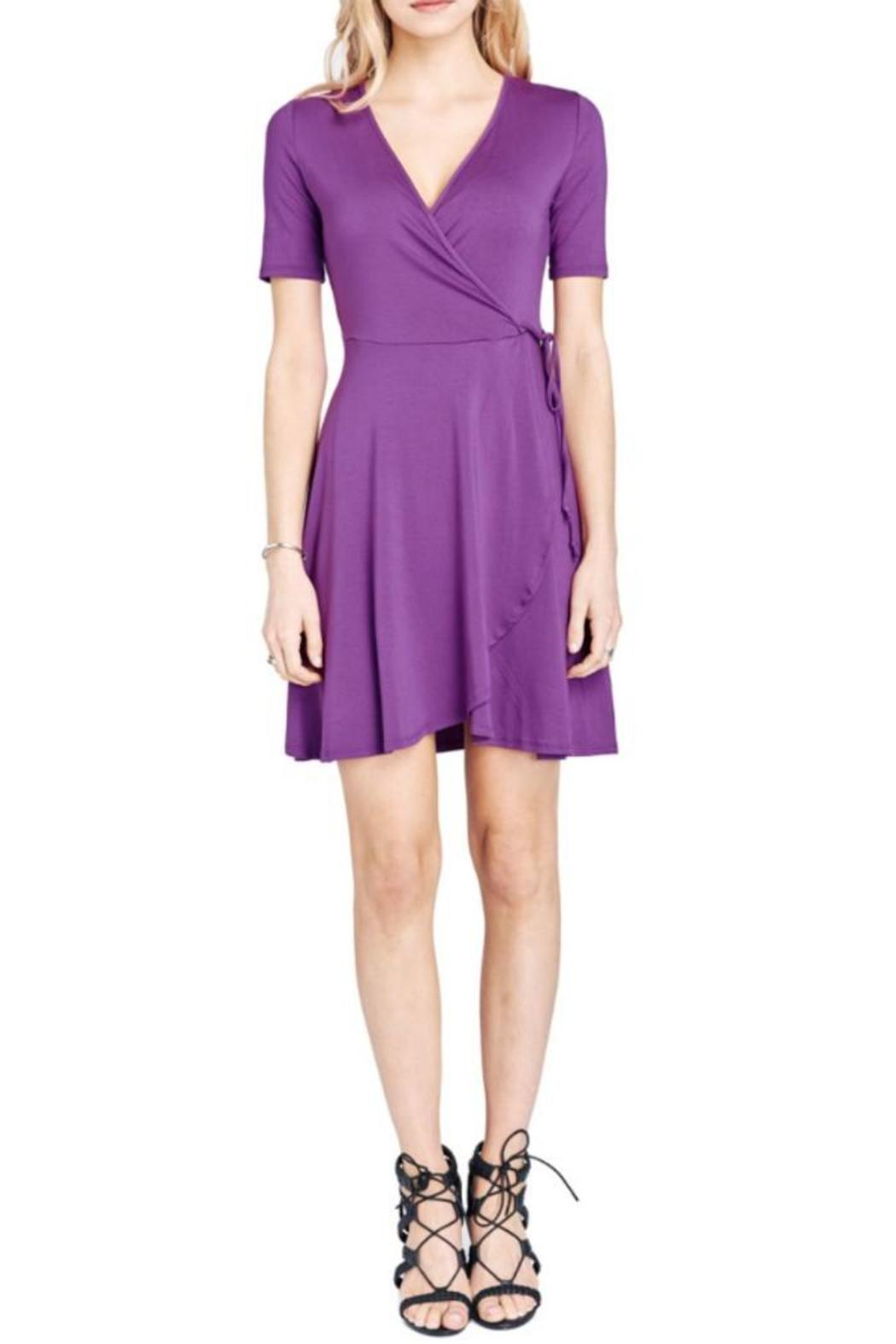 Mai Tai Purple Wrap Dress - Front Full Image