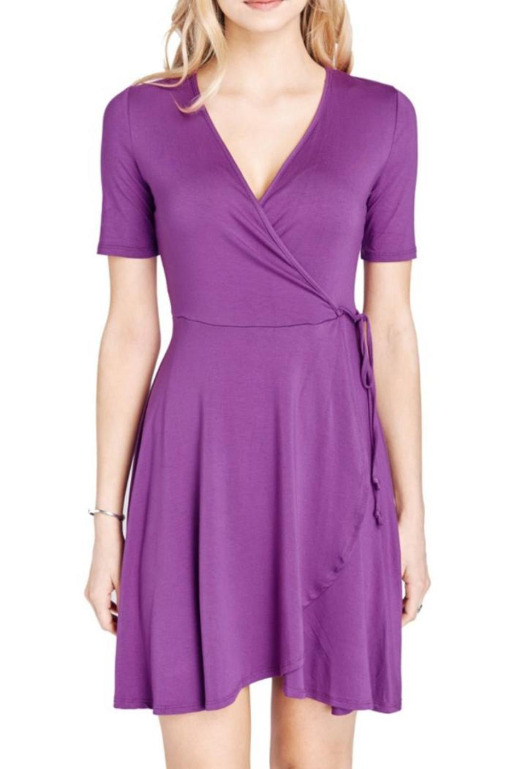 Mai Tai Purple Wrap Dress - Main Image