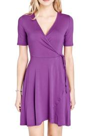 Mai Tai Purple Wrap Dress - Front cropped