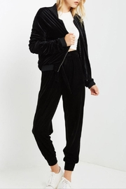 Mai Tai Ruched Velvet Jacket - Front cropped