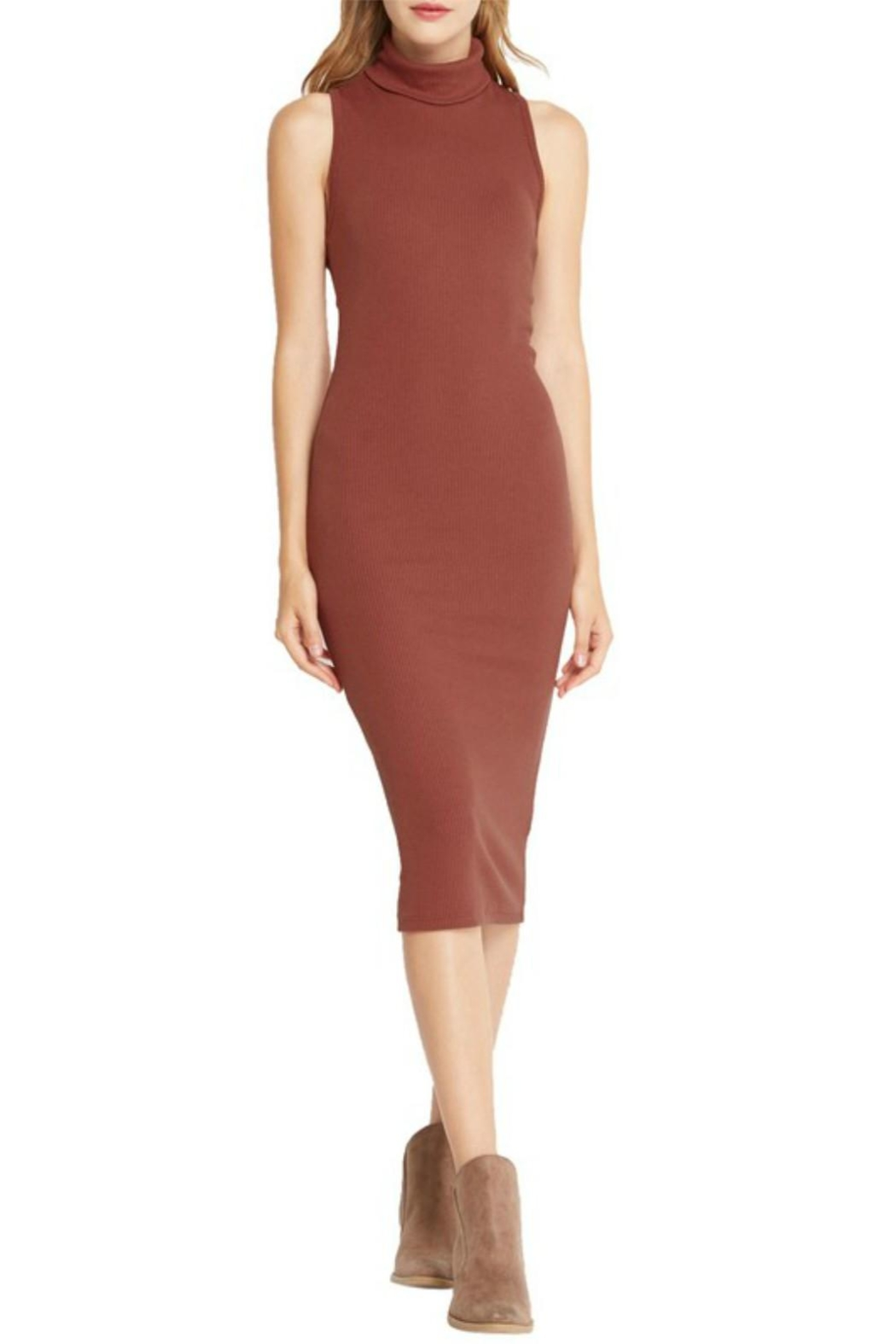 Mai Tai Rust Midi Dress - Main Image