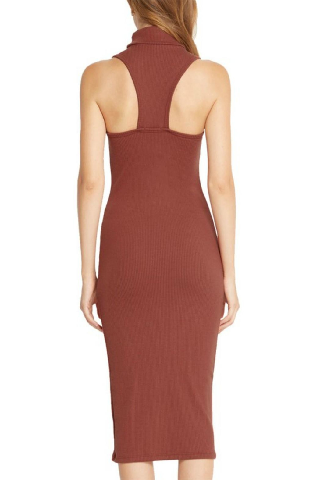 Mai Tai Rust Midi Dress - Side Cropped Image