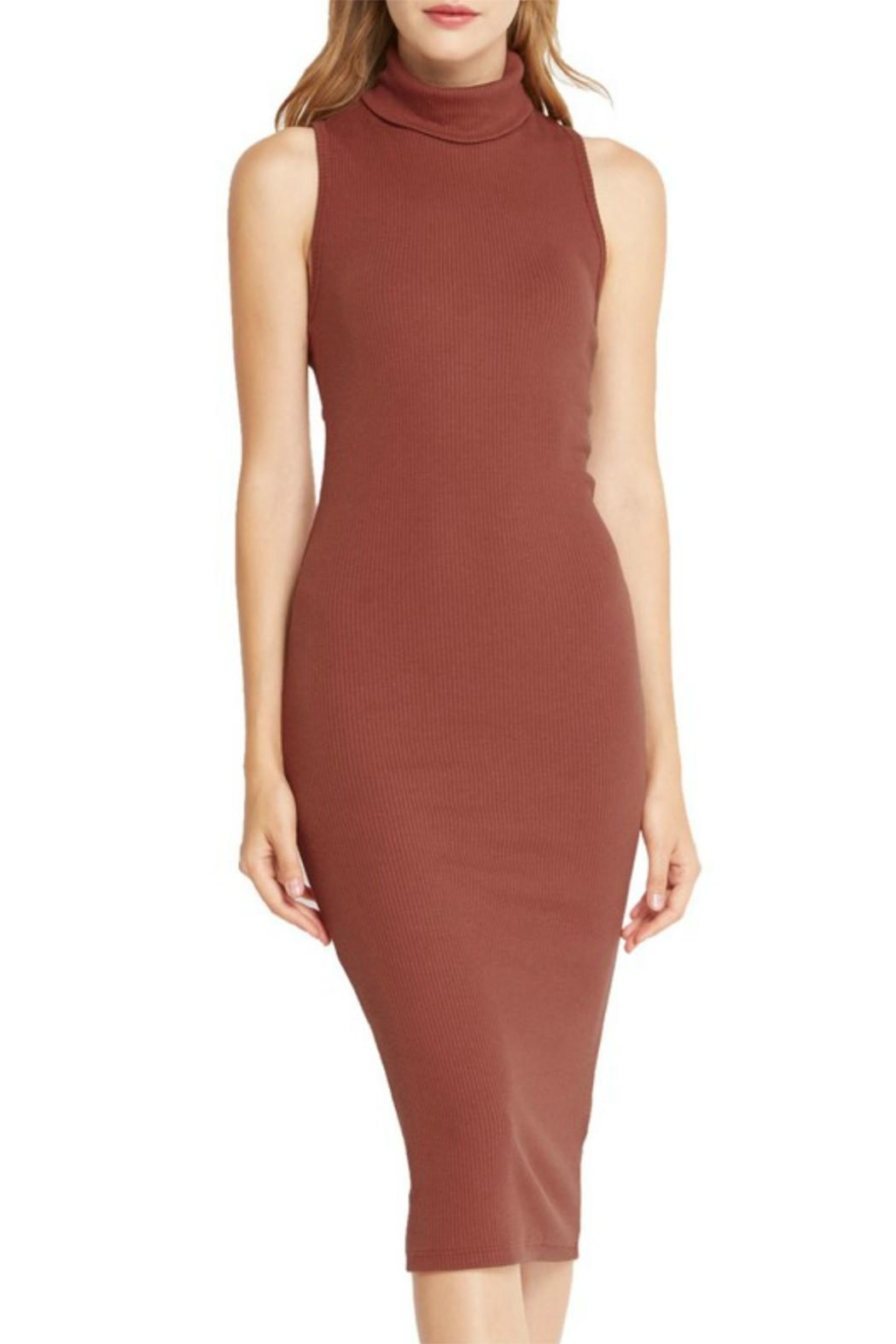 Mai Tai Rust Midi Dress - Front Full Image
