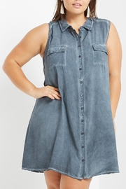 Mai Tai Stone Washed Shift Dress - Front full body