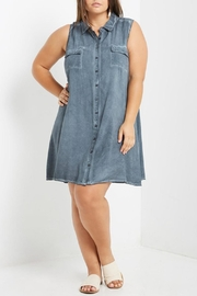 Mai Tai Stone Washed Shift Dress - Front cropped