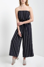Mai Tai Strapless Striped Jumpsuit - Front cropped