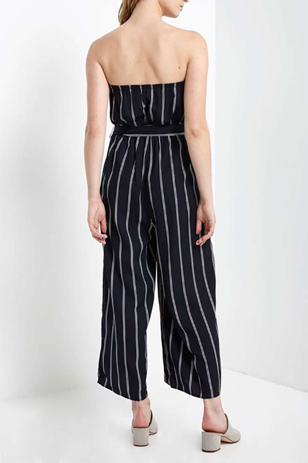 Mai Tai Strapless Striped Jumpsuit - Side Cropped Image