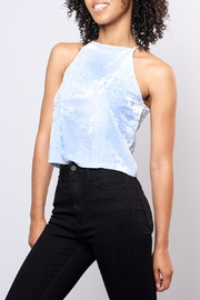 Mai Tai Velvet High Neck Top - Front cropped