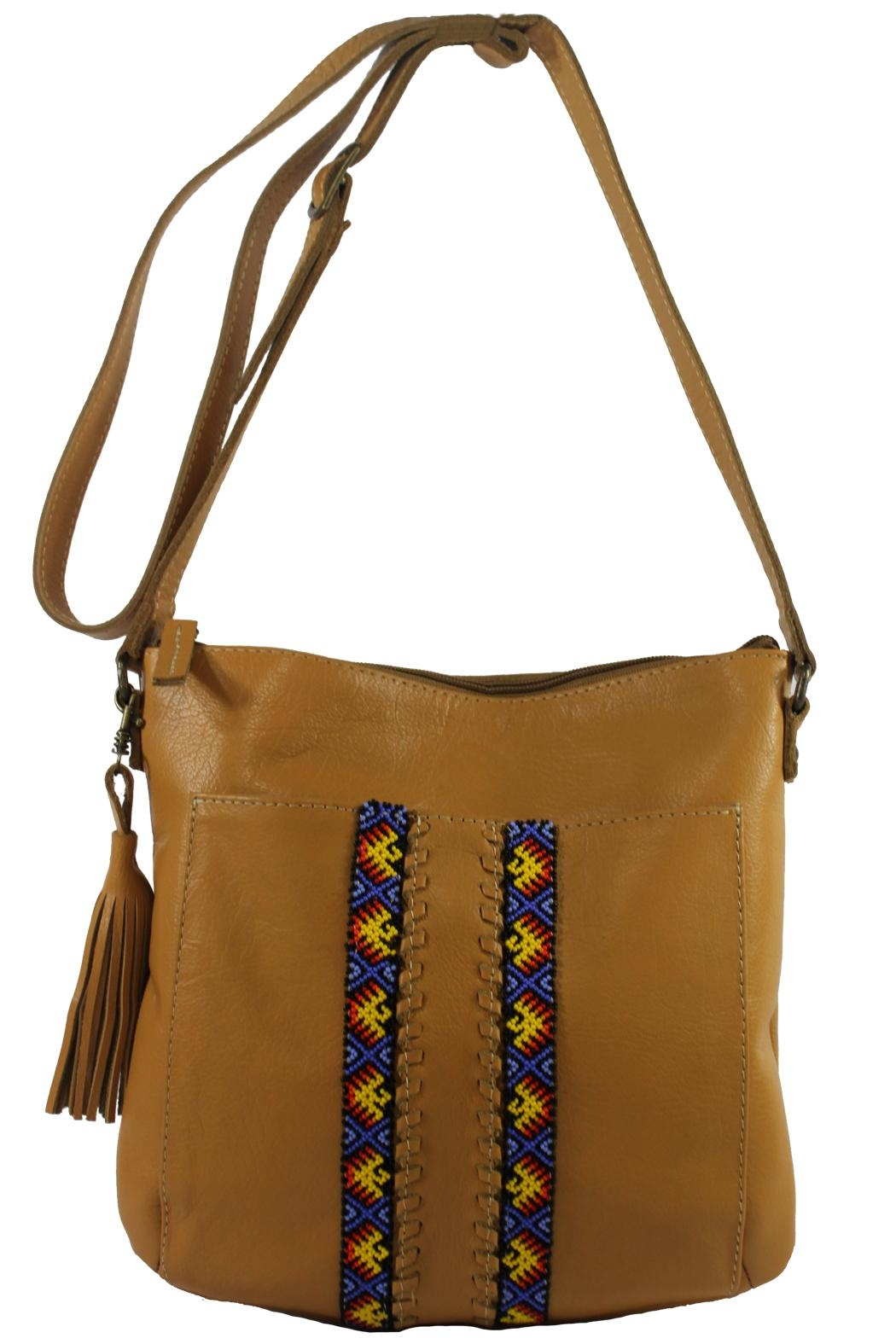 Mai Xik Leather Side Bag - Front Cropped Image