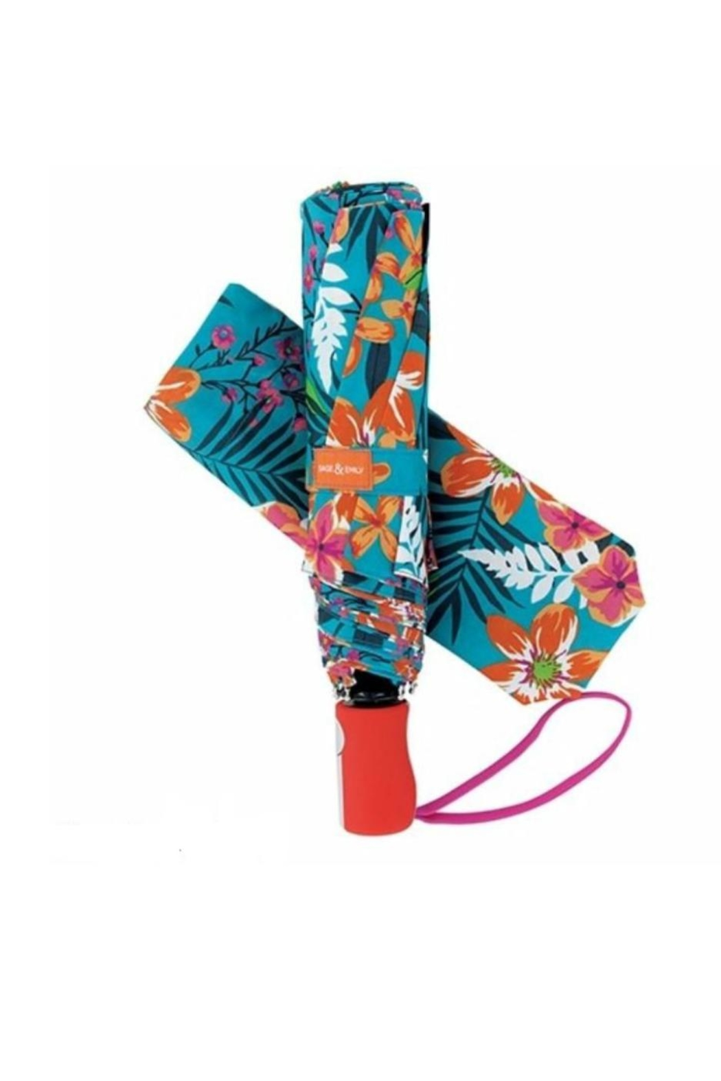 Main Street Collection Tropical Compact Umbrella - Main Image