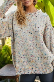 Main Strip Bianca Confetti Sweater - Front cropped