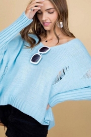 Main Strip Blue Light Hooded Sweater - Product Mini Image