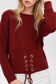 Main Strip Cinched Front Sweater - Product Mini Image