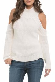 Main Strip Cold Shoulder Sweater - Product Mini Image