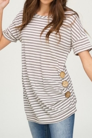 Main Strip Everyday Striped Top - Product Mini Image