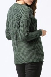 Main Strip Lace Up Sweater - Front full body