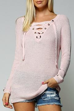 Main Strip Lace Up Sweater - Product List Image