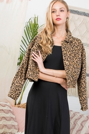 Main Strip Leopard Print Long-Sleeve-Jacket - Product Mini Image