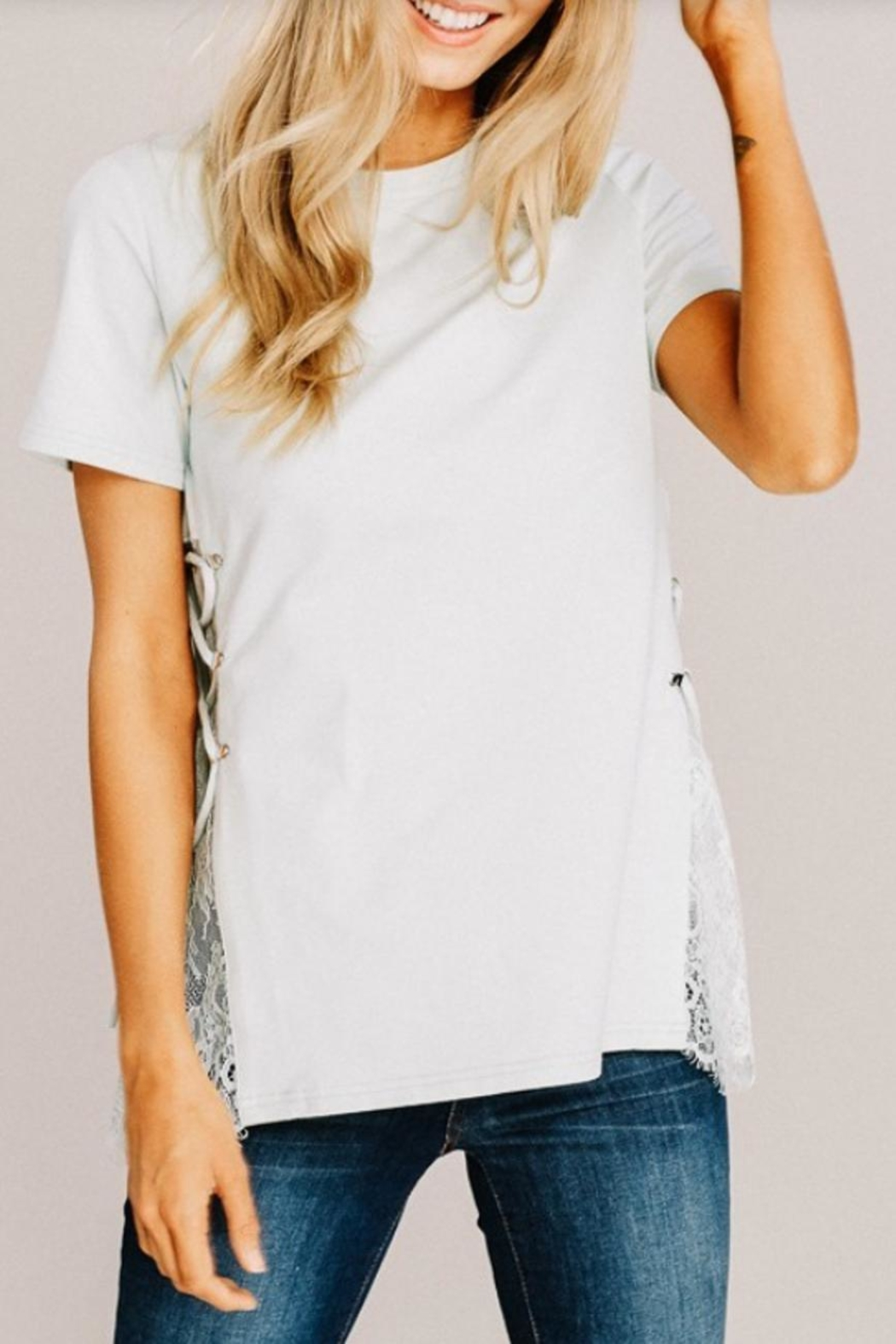 Main Strip Modern Mint Top - Front Cropped Image