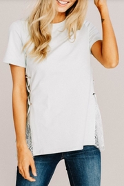 Main Strip Modern Mint Top - Front cropped