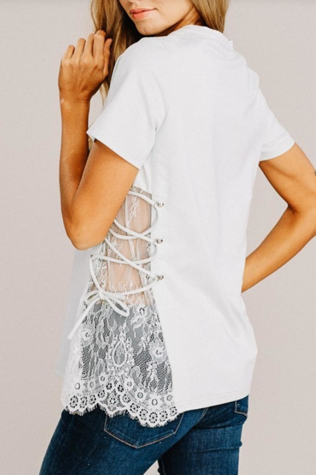 Main Strip Modern Mint Top - Back Cropped Image